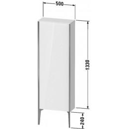 Duravit XVIU XV1316RB140 Шкафчик напольный 500 x 240 мм Черный глянцевый