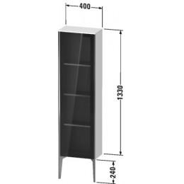 Duravit XVIU XV1365RB140 Шкафчик напольный со стеклянными дверцами 400 x 240 мм Черный глянцевый