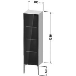 Duravit XVIU XV1367LB140 Шкафчик напольный со стеклянными дверцами 400 x 360 мм Черный глянцевый