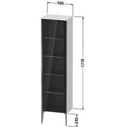 Duravit XVIU XV1376LB140 Шкафчик напольный со стеклянными дверцами 500 x 360 мм Черный глянцевый