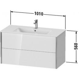 Duravit XVIU XV41270B140 Тумба подвесная 101 см Черный глянцевый
