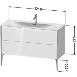 Duravit XVIU XV43040B140 Тумба напольная 121 см Черный глянцевый