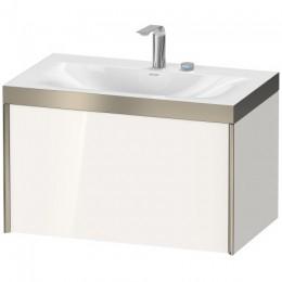 Duravit XVIU XV4610EB122P Умывальник мебельный с подвесной тумбочкой c-bonded в комплекте 80 см Белый глянцевый