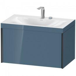 Duravit XVIU XV4610EB147C Умывальник мебельный с подвесной тумбочкой c-bonded в комплекте 80 см Каменно-синий глянцевый