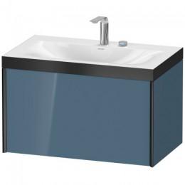 Duravit XVIU XV4610EB147P Умывальник мебельный с подвесной тумбочкой c-bonded в комплекте 80 см Каменно-синий глянцевый