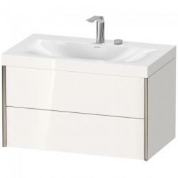 Duravit XVIU XV4615EB122C Умывальник мебельный с подвесной тумбочкой c-bonded в комплекте 80 см Белый глянцевый