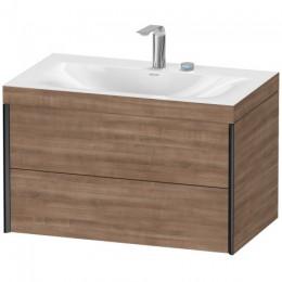 Duravit XVIU XV4615EB272C Умывальник мебельный с подвесной тумбочкой c-bonded в комплекте 80 см Дуб брашированный