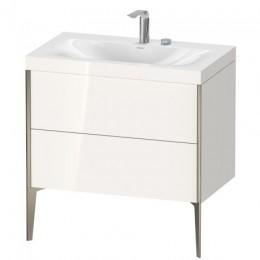 Duravit XVIU XV4710EB122C Умывальник мебельный с напольной тумбочкой c-bonded в комплекте 80 см Белый глянцевый