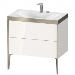 Duravit XVIU XV4710EB122P Умывальник мебельный с напольной тумбочкой c-bonded в комплекте 80 см Белый глянцевый