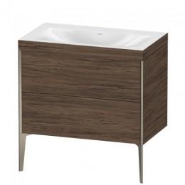 Duravit XVIU XV4710NB121C Умывальник мебельный с напольной тумбочкой c-bonded в комплекте 80 см Орех темный