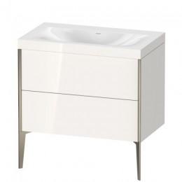Duravit XVIU XV4710NB122C Умывальник мебельный с напольной тумбочкой c-bonded в комплекте 80 см Белый глянцевый