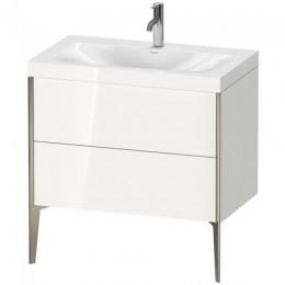 Duravit XVIU XV4710OB122C Умывальник мебельный с напольной тумбочкой c-bonded в комплекте 80 см Белый глянцевый