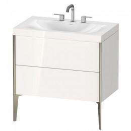 Duravit XVIU XV4710TB122C Умывальник мебельный с напольной тумбочкой c-bonded в комплекте 80 см Белый глянцевый