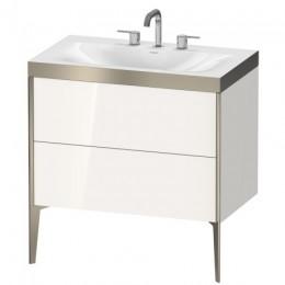 Duravit XVIU XV4710TB122P Умывальник мебельный с напольной тумбочкой c-bonded в комплекте 80 см Белый глянцевый