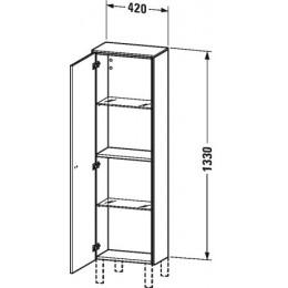 Duravit Brioso BR1300L1022 Шкаф подвесной 42 см белый глянцевый