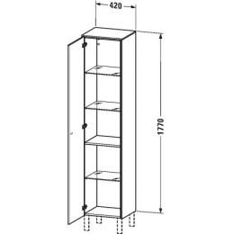 Duravit Brioso BR1330L1022 Шкаф подвесной 42 см белый глянцевый