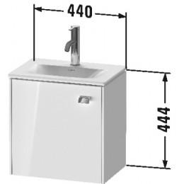 Duravit Brioso BR4208L1022 Тумбочка подвесная 44 см Белый глянцевый