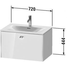 Duravit Brioso BR421102222 Тумбочка подвесная 72 см Белый глянцевый