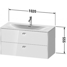 Duravit Brioso BR431302222 Тумбочка подвесная 102 см Белый глянцевый