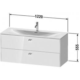 Duravit Brioso BR431402222 Тумбочка подвесная 122 см Белый глянцевый