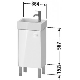 Duravit Brioso BR4429L1022 Тумбочка напольная 36 см Белый глянцевый