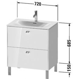 Duravit Brioso BR451102222 Тумбочка напольная 72 см Белый глянцевый