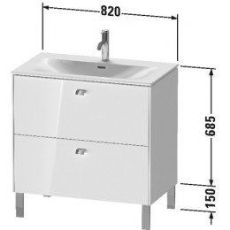 Duravit Brioso BR451202222 Тумбочка напольная 82 см Белый глянцевый