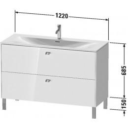 Duravit Brioso BR451402222 Тумбочка напольная 122 см Белый глянцевый