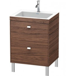 Duravit Brioso BR4700O1021 Умывальник мебельный с напольной тумбочкой c-bonded в комплекте 60 см Орех темный