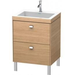Duravit Brioso BR4700O1052 Умывальник мебельный с напольной тумбочкой c-bonded в комплекте 60 см Европейский дуб