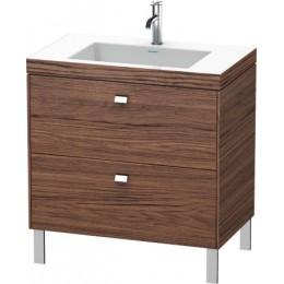 Duravit Brioso BR4701O1021 Умывальник мебельный с напольной тумбочкой c-bonded в комплекте 80 см Орех темный