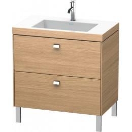 Duravit Brioso BR4701O1052 Умывальник мебельный с напольной тумбочкой c-bonded в комплекте 80 см Европейский дуб