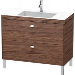Duravit Brioso BR4702O1021 Умывальник мебельный с напольной тумбочкой c-bonded в комплекте 100 см Орех темный