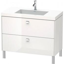 Duravit Brioso BR4702O1022 Умывальник мебельный с напольной тумбочкой c-bonded в комплекте 100 см Белый глянцевый