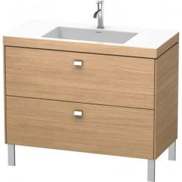 Duravit Brioso BR4702O1052 Умывальник мебельный с напольной тумбочкой c-bonded в комплекте 100 см Европейский дуб