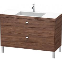 Duravit Brioso BR4703O1021 Умывальник мебельный с напольной тумбочкой c-bonded в комплекте 120 см Орех темный