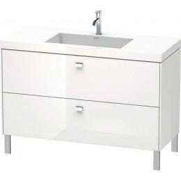 Duravit Brioso BR4703O1022 Умывальник мебельный с напольной тумбочкой c-bonded в комплекте 120 см Белый глянцевый
