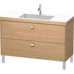 Duravit Brioso BR4703O1052 Умывальник мебельный с напольной тумбочкой c-bonded в комплекте 120 см Европейский дуб