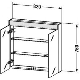 Duravit Brioso BR710202222 Зеркальный шкафчик 82 см Белый глянцевый