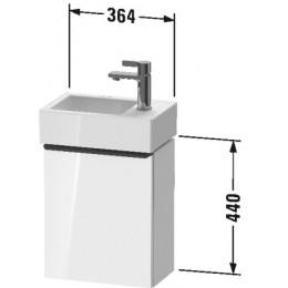 Duravit D-Neo DE4218L2222 Тумбочка подвесная 36 см Белый глянцевый
