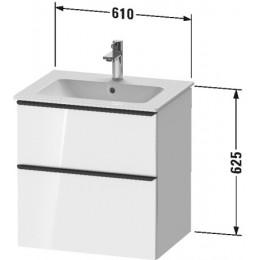 Duravit D-Neo DE436101616 Тумбочка подвесная 61 см Черный дуб