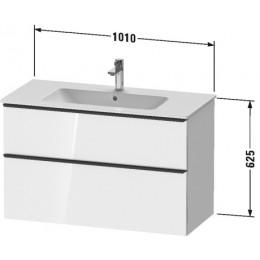 Duravit D-Neo DE436301616 Тумбочка подвесная 101 см Черный дуб