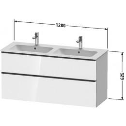 Duravit D-Neo DE436501616 Тумбочка подвесная 128 см Черный дуб