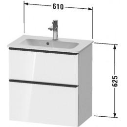 Duravit D-Neo DE436802222 Тумбочка подвесная 61 см Белый глянцевый