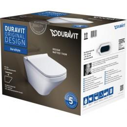 Duravit DuraStyle 45520900A1 (255209+006379) Комплект: унитаз+сиденье белый