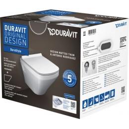 Duravit DuraStyle 45710900A1 (257109+006379) Комплект: унитаз+сиденье белый