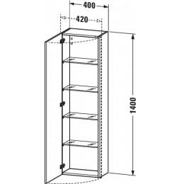 Duravit DuraStyle DS1218R1414 Высокий шкаф 40 см Бетонно-серый