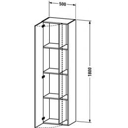 Duravit Durastyle DS1249L0707 Высокий шкаф 50 см Бетонно-серый матовый