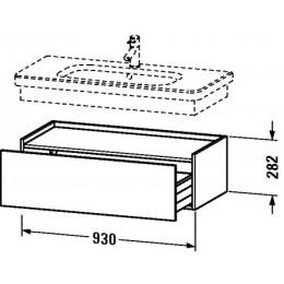 Duravit Durastyle DS628200707 Шкафчик 93 см Бетонно-серый матовый