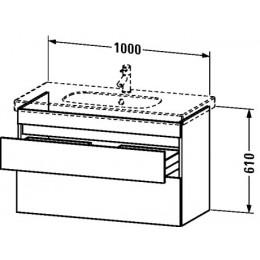Duravit Durastyle DS648500707 Тумбочка подвесная 100 см Бетонно-серый матовый